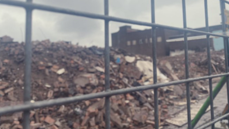 Demolition of Crewe town centre at the end of 2020