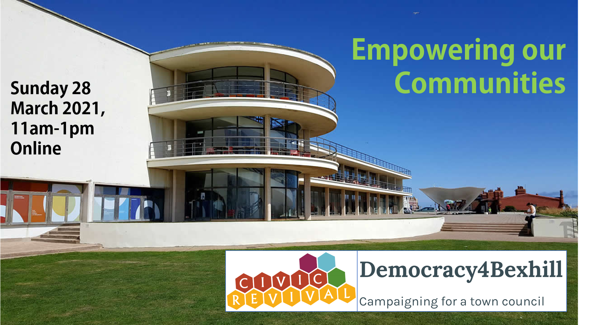 Speakers and programme announced for Empowering Our Communities, Sun 28 March