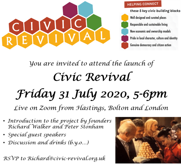 Civic Revival launch and virtual drinks