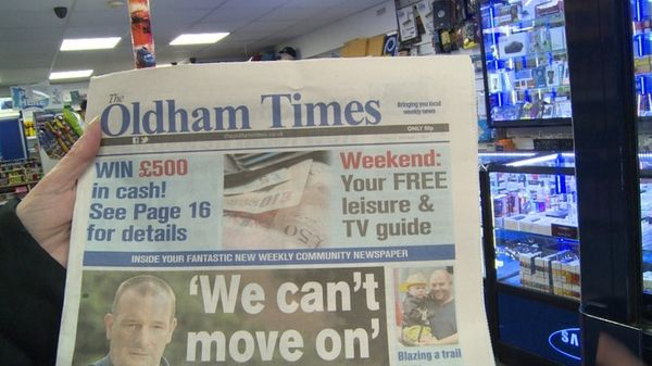 Oldham gets its own daily newspaper back after 3-year gap